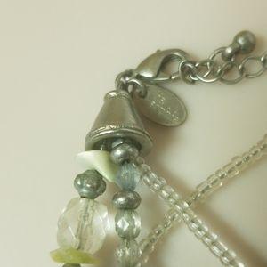 Lia Sophia Jewelry - Lia Sophia beaded and wire necklace in green/blues